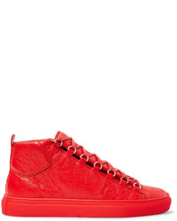 Balenciaga Arena Creased Leather High Top Sneakers
