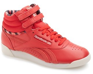 fe5f4c00c8d ... Red High Top Sneakers Reebok Freestyle Hi Graphics High Top Sneaker ...