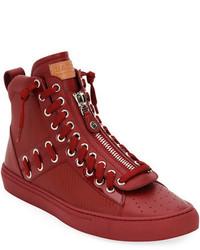 Bally Hekem Patchwork High Top Sneaker