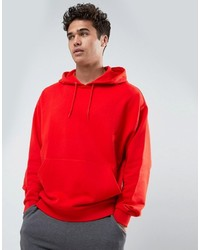 Asos Oversized Hoodie In Red