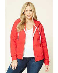 Forever 21 Plus Size Zip Up Hoodie