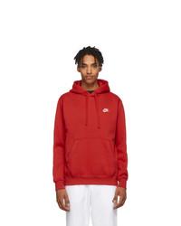 Nike Red Club Hoodie