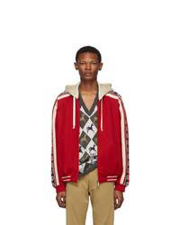 Gucci Red Gg Ribbon Jacket