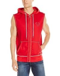True Religion Big T Sleeveless Sweatshirt With Hood