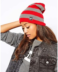 Zephyr Red Wings Lift Slouch Knit Beanie Hat
