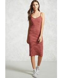Forever 21 Striped Ribbed Dress