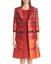 St. John Collection Metallic Stripe Jacquard Jacket