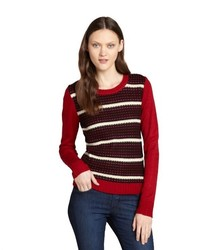 Walter Red And Black Striped Knit Kristin Sweater