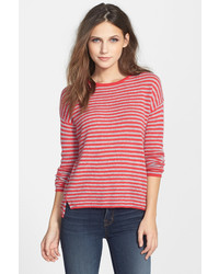 Velvet by Graham & Spencer Stripe Cashmere Sweater
