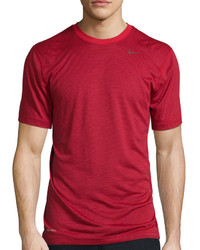 Nike Dri Fit Touch Short Sleeve Tri Stripe Tee