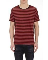 R 13 R13 Striped Jersey T Shirt