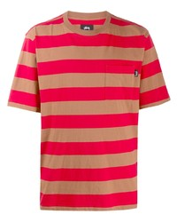 Stussy Striped Relaxed Fit T Shirt