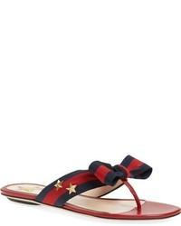 Gucci Aline Bow Thong Sandal