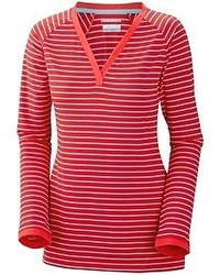 Red Horizontal Striped Long Sleeve T-shirt