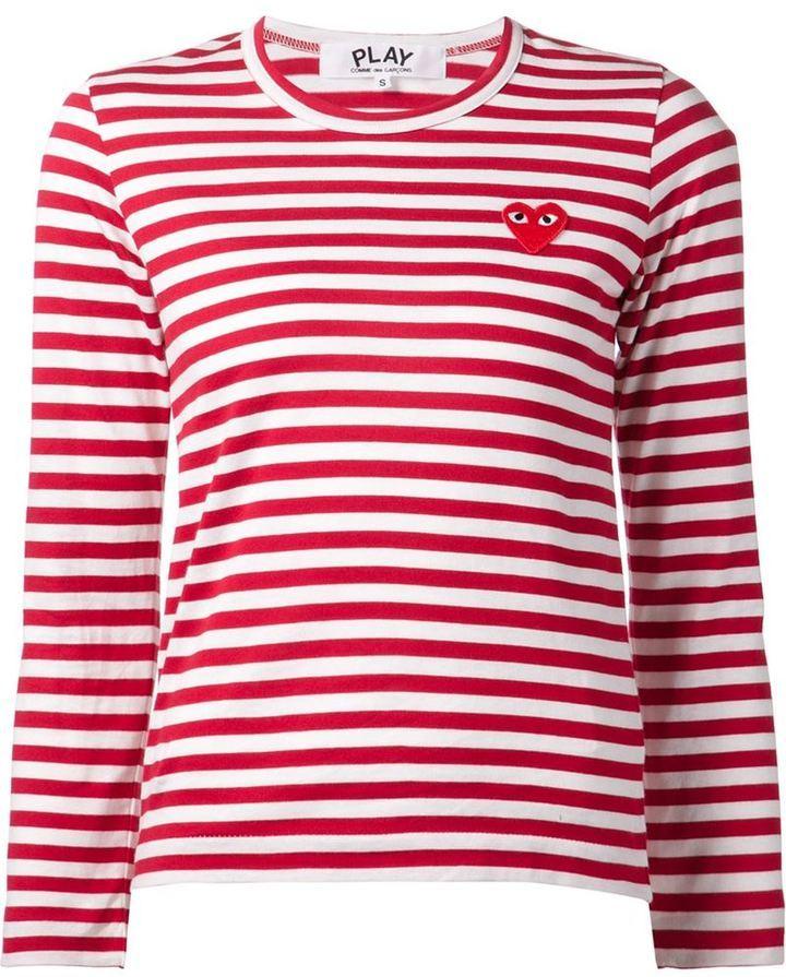 6c40e421 ... Comme des Garcons Comme Des Garons Play Long Sleeve Striped T Shirt