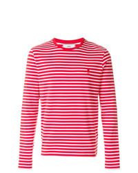 AMI Alexandre Mattiussi Long Sleeved T Shirt Ami De Coeur Embroidery