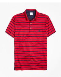 Brooks Brothers Slim Fit Bar Stripe Performance Polo Shirt