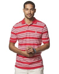 Chaps Classic Fit Striped Pique Polo
