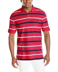 Izod Short Sleeve Dock Auto Stripe Advantage Pique Polo Shirt