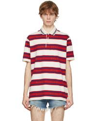 Gucci Off White Striped Logo Polo
