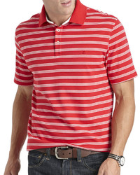 Izod Short Sleeve Striped Interlock Polo