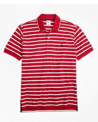 Brooks Brothers Slim Fit Multi Texture Stripe Polo Shirt