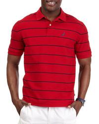 Nautica Stripe Deck Polo Shirt