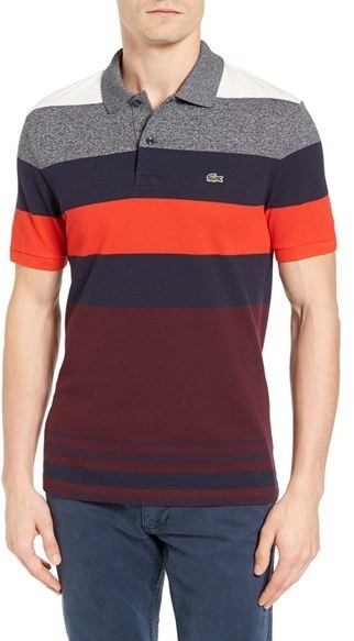 1938b6b5 Lacoste Stripe Pique Polo, $125 | Nordstrom | Lookastic.com