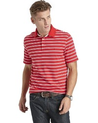 Izod Striped Interlock Polo