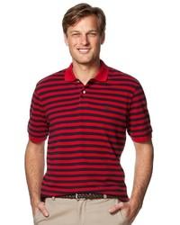 Chaps Striped Pique Polo