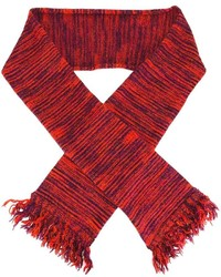 YMC Striped Frayed Scarf