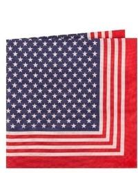 Ted Baker London Stars Stripes Cotton Silk Pocket Square