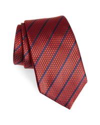 Ermenegildo Zegna Woven Stripe Silk Tie