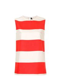 Calvin Klein 205W39nyc Striped Sleeveless Blouse
