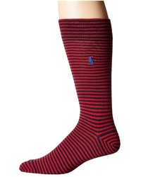 Polo Ralph Lauren All Over Stripe Boot Single Crew Cut Socks Shoes