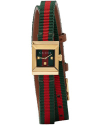 Gucci Red Green G Frame Watch