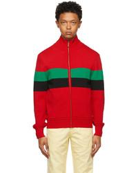 Wales Bonner Red Saint Jones Zip Up Sweater
