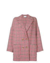 RED Valentino Houndstooth Cocoon Coat