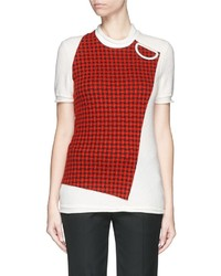 Cloqu check panel wool t shirt medium 332797