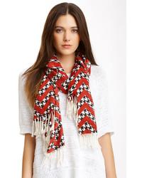 Just jamie houndstooth chevron shawl medium 170093