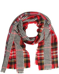 Comme des Garcons Patchwork Plaid Houndstooth Scarf
