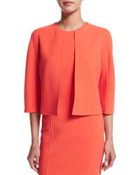 Michael Kors Michl Kors Collection 34 Sleeve Open Front Jacket Persimmon