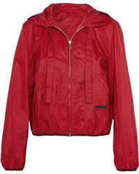 Prada Shell Hooded Jacket Red