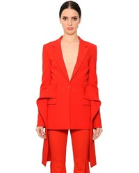 Givenchy Stretch Cady Jacket W Draped Peplum