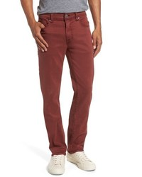 Fidelity Denim Jimmy Lumina Slim Straight Leg Twill Pants