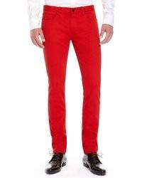 f4509e8b4b ... Hugo Boss Hugo 734 Skinny Fit 11 Oz Stretch Cotton Jeans Dark Red