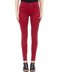 J Brand Maria High Rise Skinny Jeans Red