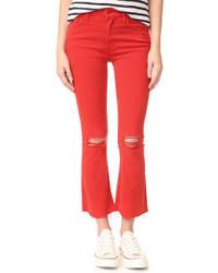 Mother Insider Crop Fray Jeans