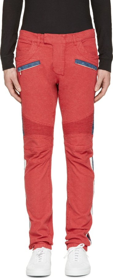 Many Kinds Of Sale Online Pictures Online Red biker jeans Balmain Deals Sale Online Cheap Sale For Nice Prices Cheap Online dkc0EF