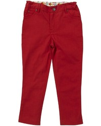 Little Green Radicals Slim Line Canvas Jeans Red 1 2 Years